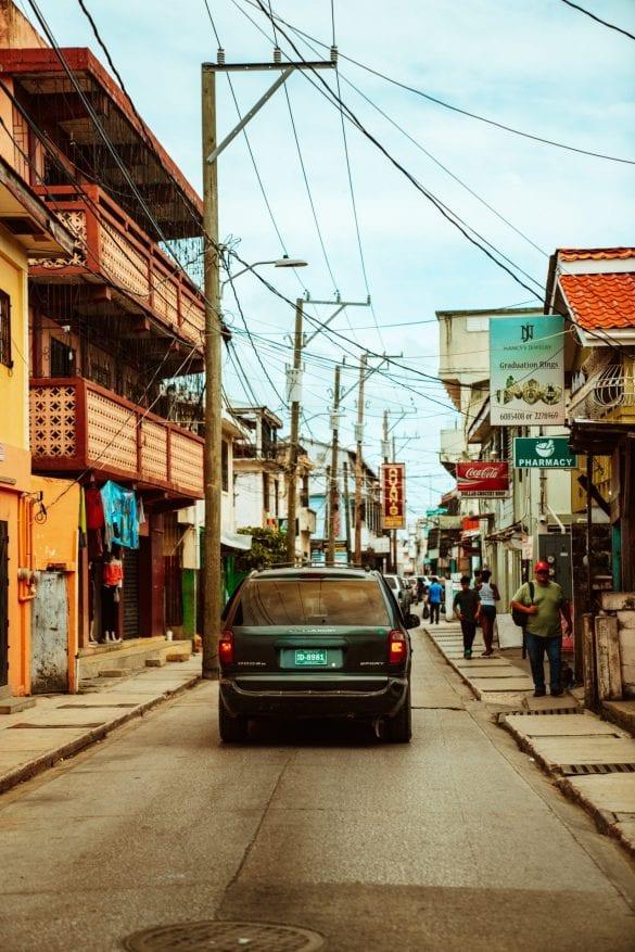 belize taxi public transportation city