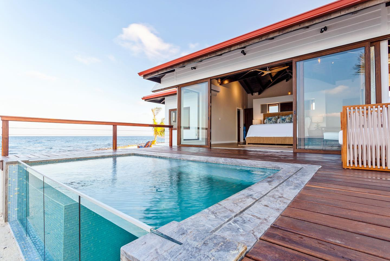 Ray Caye honeymoon plunge pool