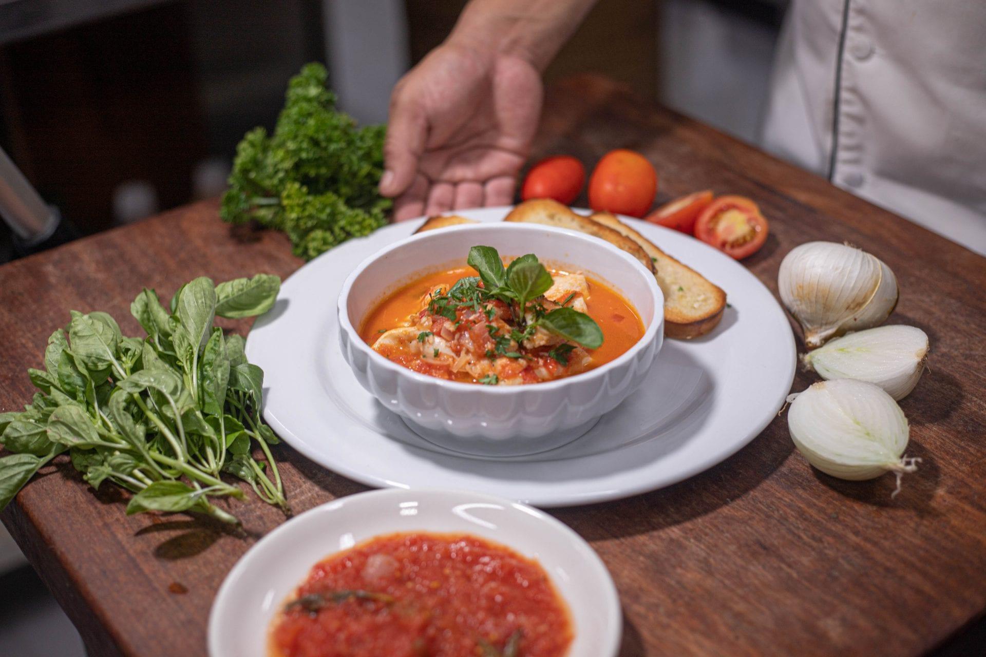 seafood soup belize turtle inn 1