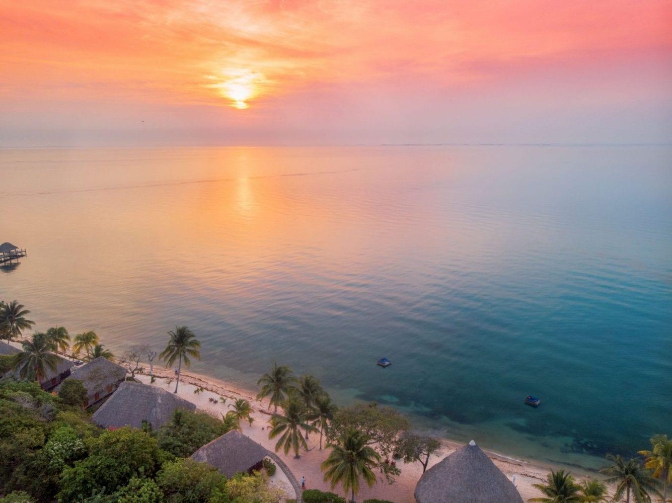 Turtle Inn sunrise belize placencia
