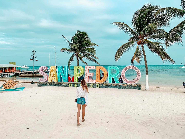 San Pedro sign belize