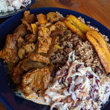 Rice & Beans with Stew Beef