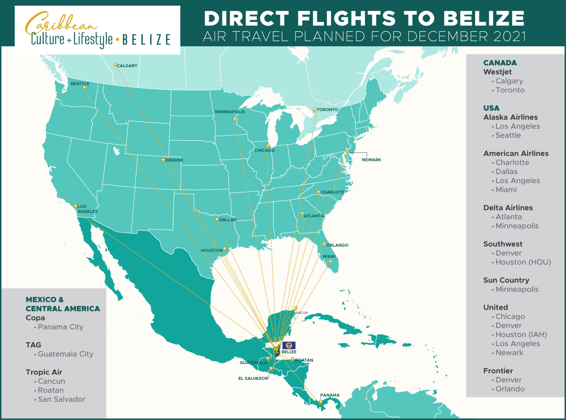 getting to belize-map-flights