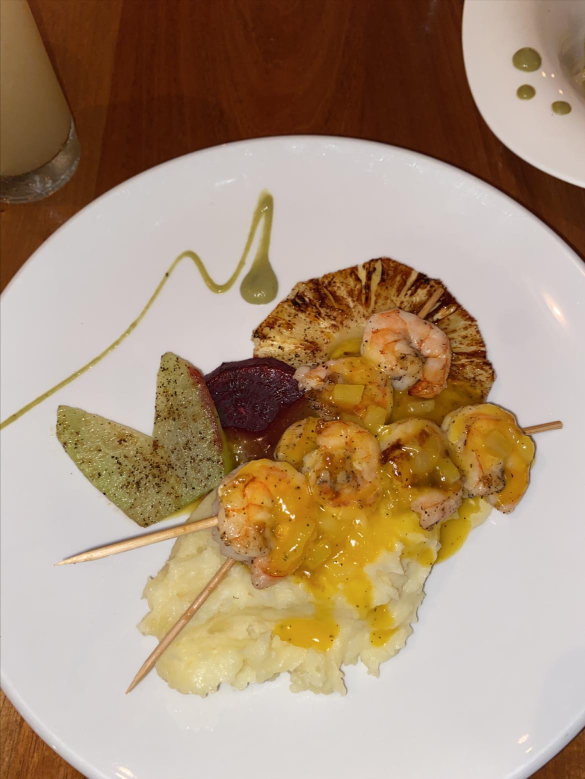 naia-resort-restaurant-belize-placencia-pineapple-shrimp