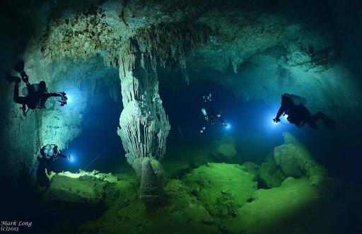 belize caye caulker underwater cave biggest world