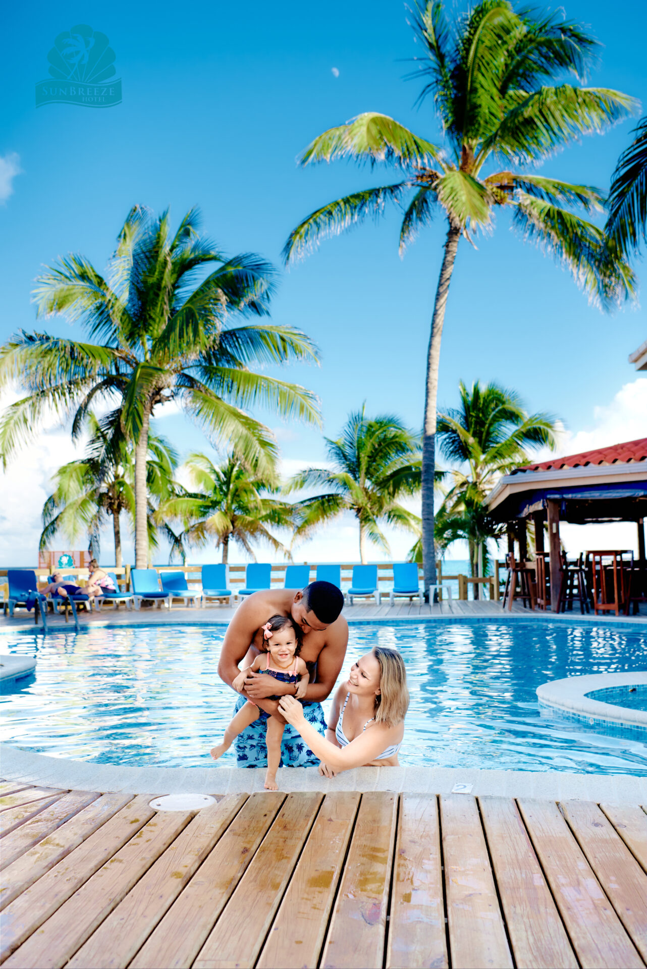 sunbreeze hotel - pool with kids belize Ambergris Caye